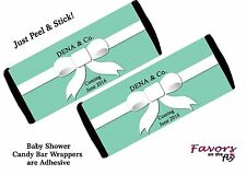 12 Breakfast at Tiffany's Blue Personalized Candy Bar Wrappers Party Favors SALE