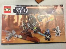 Lego 9491Star Wars Geonosian Cannon shooters rare retired manual