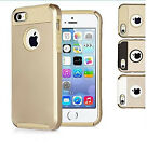 Gold PC Shockproof Dirt Dust Proof Hard Matte Cover Case For iPhone 5 5S + Film