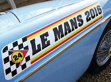 LE MANS 24 HOURS & CLASSIC 2016 LARGE PAIR of logo stickers decals