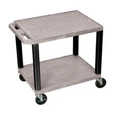 """H Wilson GRAY 26"""" TFY W/BLACK LEGS & E- WT26GYE-B AV / Utility Cart NEW"""