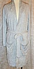 Barefoot Dreams Short Robe Pewter/Pearl Heather  Cozy Chic Bamboo Lite 2