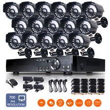 16CH HDMI 1080P DVR 700TVL 24IR-Leds CCTV Camera Outdoor Security Camera System