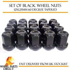 Alloy Wheel Nuts Black (20) 12x1.25 Bolts for Subaru Exiga 08-16
