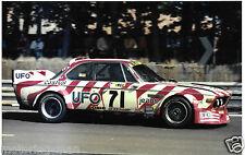 UFO BMW 3.0CSL CSL Luigi Racing du Mans 1977 fotografía Jean Xhenceval Spartaco