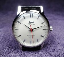 Hmt Karna, silverish white dial, steel case, 17 jewels movement