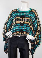 Pendleton Meets Opening Ceremony Batwing Kimono Poncho Aztec Cape Sweater Top M