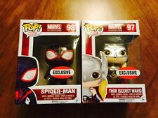 Lot of Marvel Collector Corps EXCLUSIVES Spider-Man + Thor Pop Figures