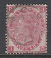 GB SURFACE PRINTED:1873 Spray of Rose 3d rose plate 10-J-B  SG 103 used