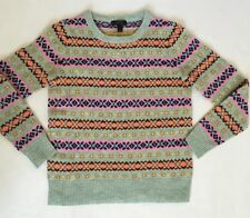 NWD J Crew Fair Isle Crew neck Sweater Size XS $89.50
