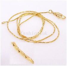 45cm Men Women 18K Yellow Gold Plated Small Lobster Clasp Rope Chain Necklace
