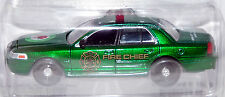 1/64 Greenlight GREEN MACHINE 2008 Ford Crown Victoria Fire Chief Car Apple Blos