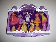 Disney BELLE Mini Polly Pocket Princess Set 17 Pcs & Purple Case. Beauty & Beast