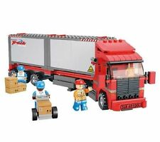 Twin Container Truck Lorry c/w Figures Compatible Building Bricks 345pcs #B0338
