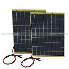 ECO 2pcs 10Watt 12V Solar panel  Garden Fountain pond Battery Charger total 20W