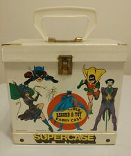 "1976 DC Comics 8"" Washable 45 Record & Toy Carry Supercase - Batman & Superman"