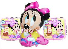 Baby Minnie Mouse Foil Balloon combo girl New baby 1st 2nd 3rd birthday