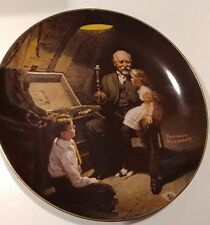 """Norman Rockwell plate,""""Grandpa's Treasure Chest"""" numbered rockwell 1970 vintage"""