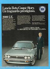 QUATTROR982-PUBBLICITA'/ADVERTISING-1982- LANCIA BETA COUPE' 2000 I.E.