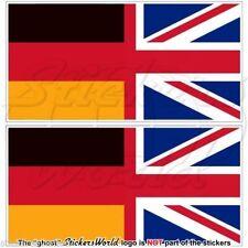 ALLEMAGNE Royaume-Uni Drapeau Britannique Union Jack Autocollant 110mm x2