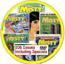 MISTY COMICS COLLECTION (UK) ON DVD 106 issues including specials in PDF format
