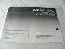 Yamaha M-70 Owner's Manual  Operating Instructions Istruzioni   New