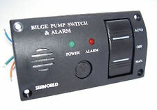 Bilge pump switch and alarm panel Marine Boat SEAWORLD 12v illuminated  10-10709