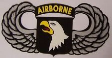 Window Bumper Sticker Military Army 101st Airborne Div Screaming Eagles NEW
