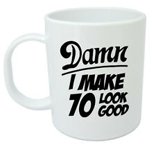 Damn 70 Mug, 70th Birthday gifts, presents, gift ideas for men, 70 year old