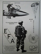 1971-73 PUB EFA SAFETY EQUIPMENT SAUT PARACHUTE PAPILLON OLYMPIC F-104 GERMAN AD