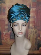Stunningly EXQUISITE Women's Christian Dior Embellished Chapeaux Turban Hat!
