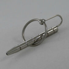 Stainless Steel Ribbed Hollow penis plug & Glans MP-56-SIL, FREE UK DELIVERY