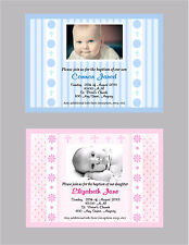 BOY OR GIRL BAPTISM OR CHRISTENING CUSTOM PRINTABLE PHOTO INVITATION ASST STYLES