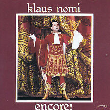 CD-Klaus Nomi-Encore!, Feb-1990, Bmg/Rca Records Label)