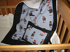 ABC Baby Blanket and Pillow Set - Features Ralph Lauren  Polo Teddy Bears Fabric