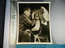Rare Historical Original VTG 1944 Movie Gaffer Harry Estin Behind Camera Photo
