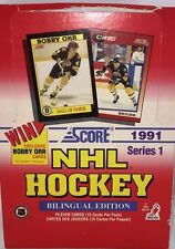 1991-92 Score Series 1 Hockey English Edition Poly Pack Unopened Box 36 Packs