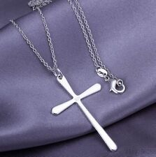 925 STUNNING SILVER CROSS CRUCIFIX SIMPLE ELEGANT DESIGN VALENTINES GIFT PRAYER