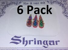 18x Bindi Bindis Shringar Bollywood Original India Schmuck Sari Goa Sticker