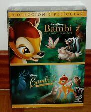 BAMBI EDICION DIAMANTE+BAMBI 2 EDICION ESPECIAL-DISNEY-PACK 2 DVD-PRECINTADO