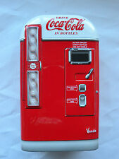 Coca Cola 2001 Tin vintage coke venting machine red with dome top #WX02-COKE2