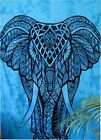 Twin Indian Blue Elephant Mandala Hippie Wall Hanging Tapestry Gypsy Bedspread