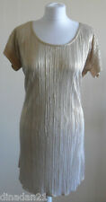 River Island dress, gold shinny, short, size 12, brand new