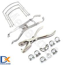 MEDENTRA ® barrage en caoutchouc dentiste kit cadre ivoire clamps forcep ainsworth pince
