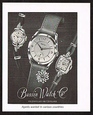 1950's Small Vintage 1955 Bassin Watch Co. - Paper Print AD