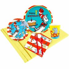 Dr. Seuss 1st - Birthday Party Supply Kit for 8 w/ Table Ware
