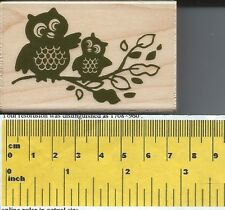 """""""Owl Family"""" Rubber Stamp by Stampabilities"""