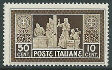 1929 REGNO MONTECASSINO 50 CENT MNH ** - P42-9