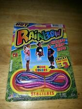 Chinese Jump Rope (Ching Chong) w/Instructions HOT Rainbow Colors Stretches