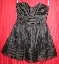 Women's Betsey Johnson Formal Strapless Dress Black Size 11/12 Excellent
